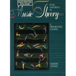 BASIC MATERIALS IN MUSIC THEORY. A PROGRAMED COURSE. SEVENTH EDITION [antykwariat]