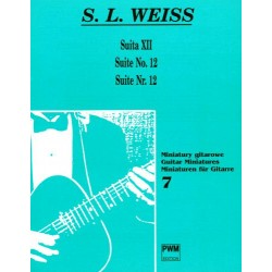 SUITA XII  NA GITARĘ Silvius Weiss