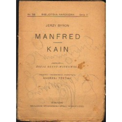 MANFRED. POEMAT DRAMATYCZNY 1817 [antykwariat]