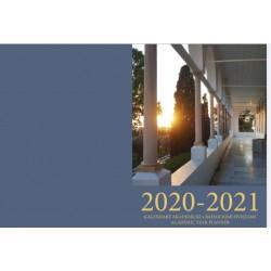 2020-2021 Kalendarz akademicki z bahaickimi świętami. Daty od września 2020 do września 2021