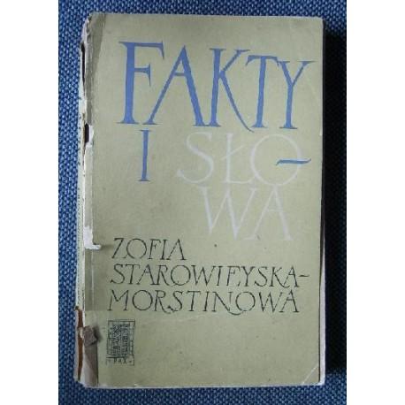 Zofia Starowieyska-Morstinowa FAKTY I SŁOWA [antykwariat]