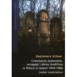 Kazimierz Urban CMENTARZE ŻYDOWSKIE, SYNAGOGI I DOMY MODLITWY W POLSCE W LATACH 1944-1966. WYBÓR MATERIAŁÓW
