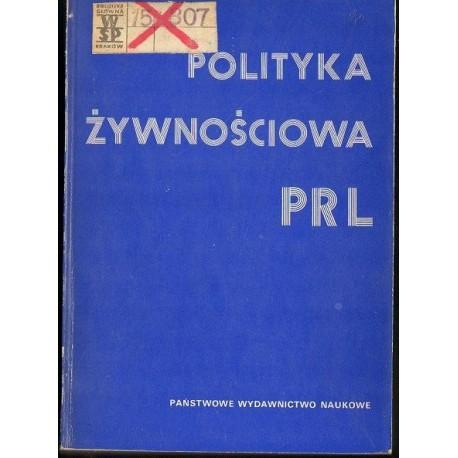 POLITYKA ŻYWNOŚCIOWA PRL [antykwariat]